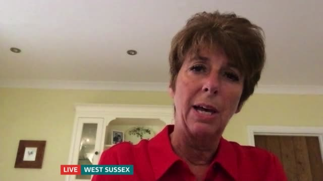 caroline goode and payzee mahmod interview; england: london: gir / location unknown / west sussex: int payzee mahmod and caroline goode live 3-way... - itv london tonight stock-videos und b-roll-filmmaterial