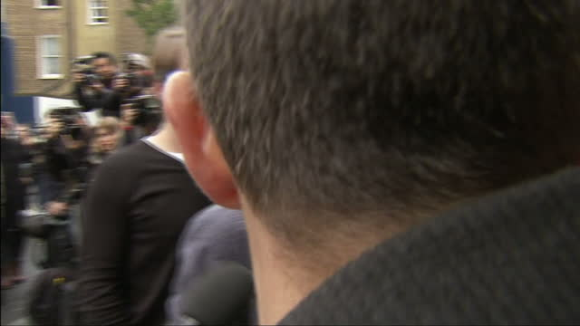 Band Aid 30 Arrivals Sarm Studios Exterior shots of One Direction's Niall Horan arriving and being interviewed by media at Sarm Studios on November...
