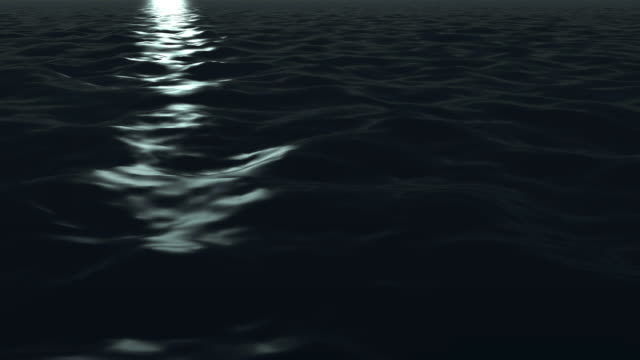 a band of moonlight on dark water. - digital enhancement stock videos & royalty-free footage