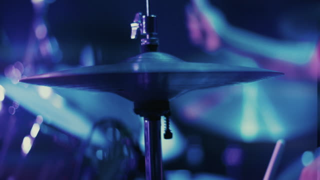 band playing a real live show in a club: drummer hitting hard - rock group stock videos & royalty-free footage