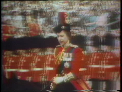 band plays and queen elizabeth rides in a parade celebrating the united states' bicentennial. - 1976 stock videos & royalty-free footage