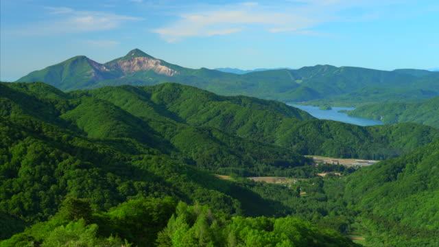 磐梯山と桧原湖の景色 - 清潔点の映像素材/bロール