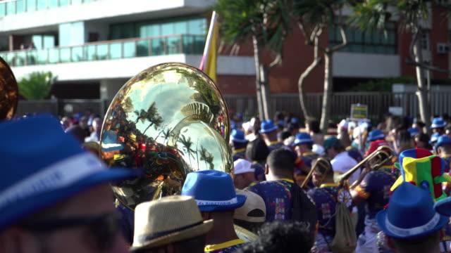 bande da ipanema bloco - street party stock videos & royalty-free footage