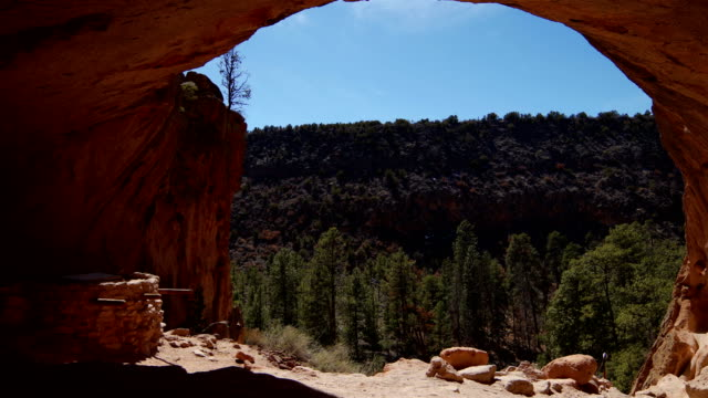 bandelier national monument, nm - pueblo built structure stock videos & royalty-free footage