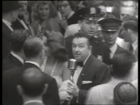 b/w 1954 bandleader xavier cugat at movie premiere / no sound - 1954 stock videos & royalty-free footage