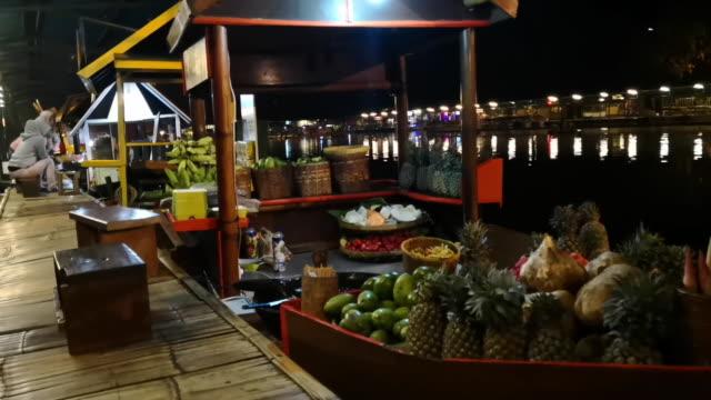bandung floating market - floating market stock videos & royalty-free footage