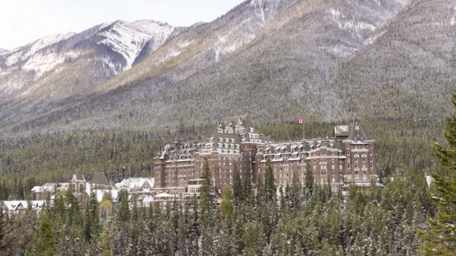 banff springs hotel - alberta stock videos & royalty-free footage