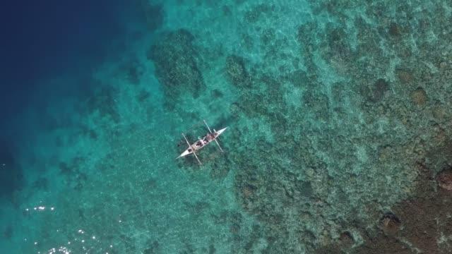bangka boat at sea - lagoon stock videos & royalty-free footage