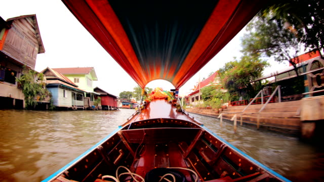 bangkok canal boat, thailand - bangkok stock videos & royalty-free footage