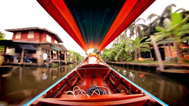 bangkok canal boat, thailand - thai culture stock videos & royalty-free footage
