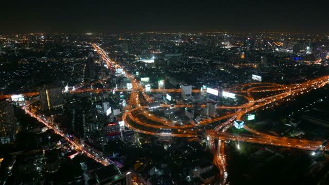 Bangkok city at night time lapse