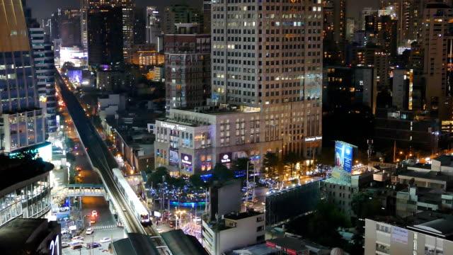 vidéos et rushes de vue sur la ville de bangkok - vertige