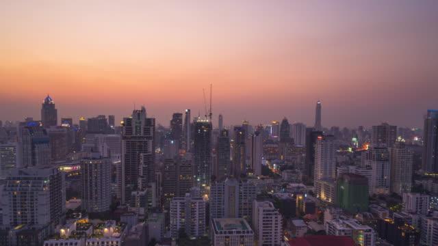 Die Stadt Bangkok Zeit verfallen Tag zu Nacht Stadtbild