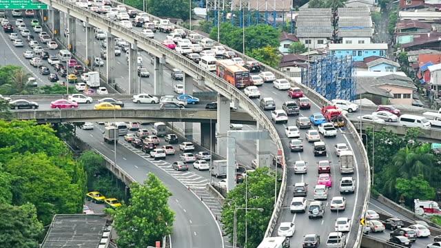 vídeos y material grabado en eventos de stock de bangkok city traffic jam a viernes - traffic jam