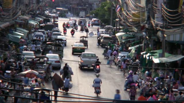 bangkok city - auto rickshaw stock videos & royalty-free footage