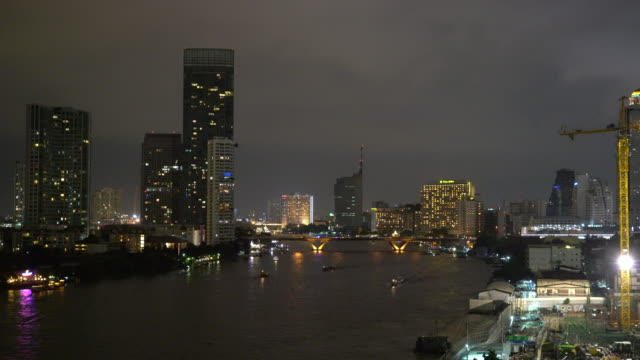 Bangkok City with lightning