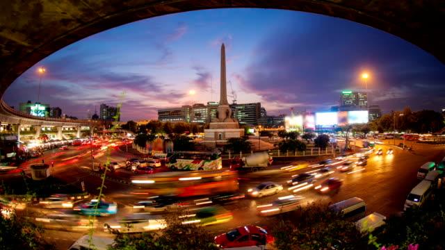 Bangkok Downtown hora pico Time Lapse