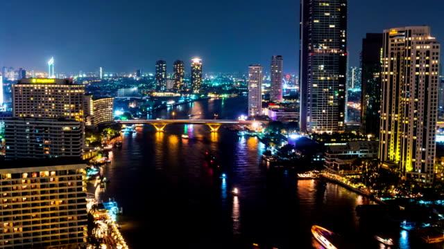 bangkok downtown skylines time lapse - pan shot - pan greek god stock videos & royalty-free footage