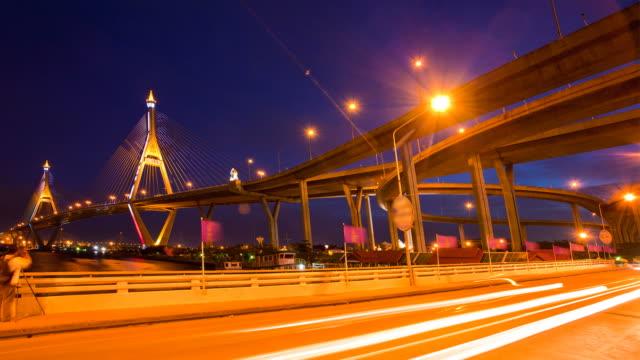 Time lapse Industrial Bridge di Bangkok