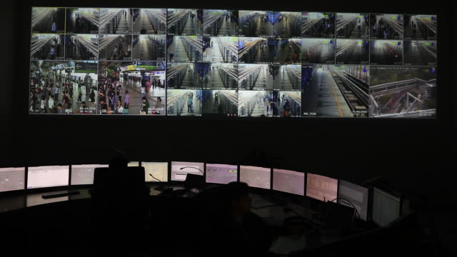 bangkok mass transit system operations in bangkok on thursday april 26 2018 - control room stock videos & royalty-free footage