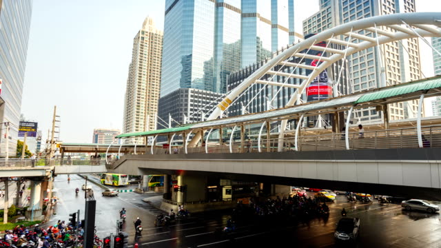モダンでバンコク,サトーンブリッジ - 線路のポイント点の映像素材/bロール