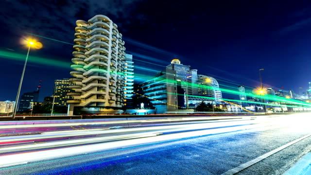 Bangkok Sathorn Bridge Time lapse from Twilight to Night