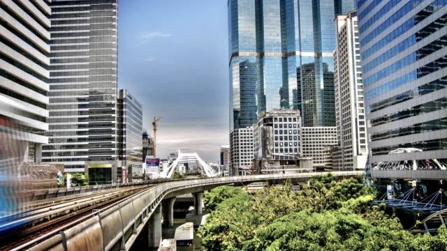Bangkok Sky Train and Office Building