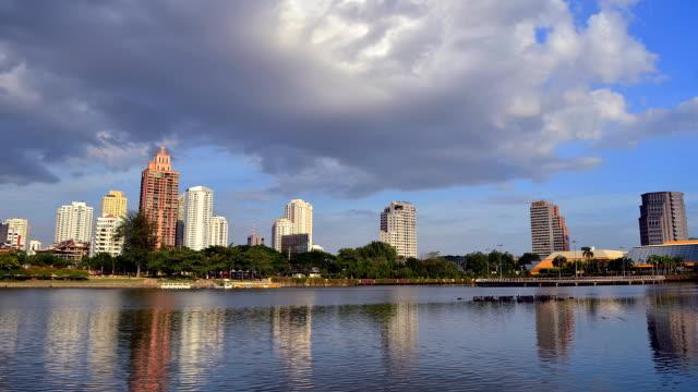 Bangkok skyline Time lapse