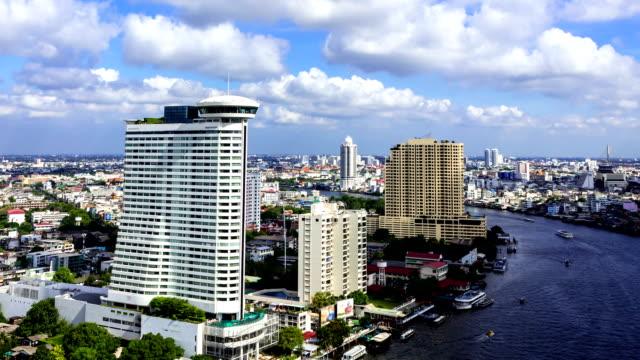 bangkok skyline timelapse - pan greek god stock videos & royalty-free footage