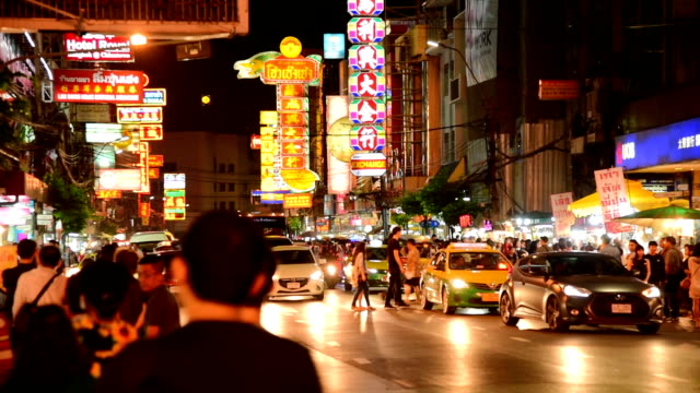 bangkok thailand china town and traveller enjoy traviling - thai ethnicity stock videos & royalty-free footage