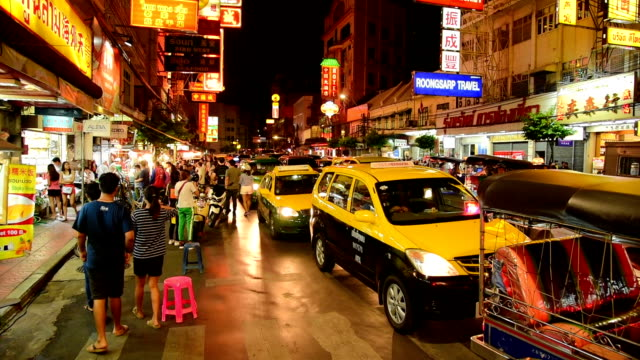 bangkok thailand china town und reisenden genießen afokatili - besichtigung stock-videos und b-roll-filmmaterial