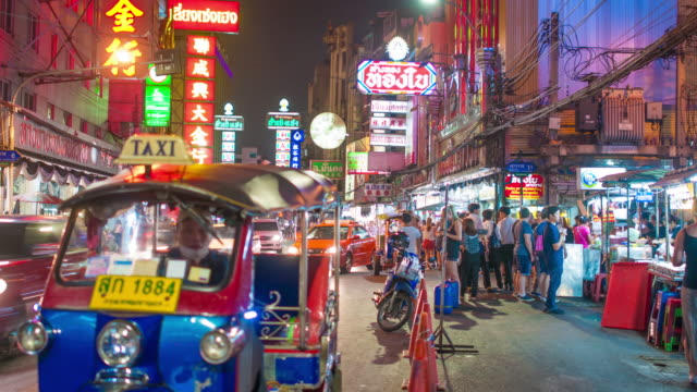 bangkok thailand chinatown - thailand stock videos & royalty-free footage