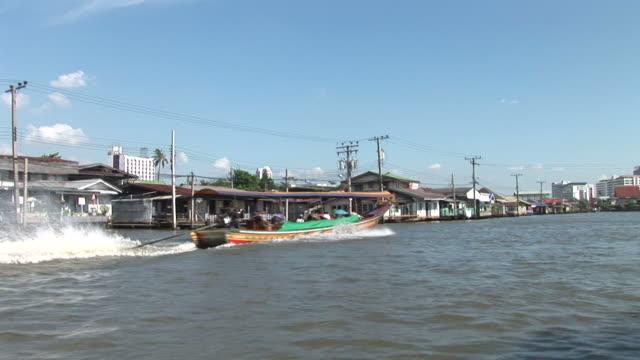 Bangkok, ThailandSpeed boat cruising in the river at Bangkok Thailand