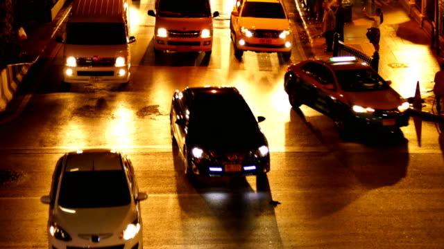 bangkok traffic at night - southeast asia stock videos & royalty-free footage