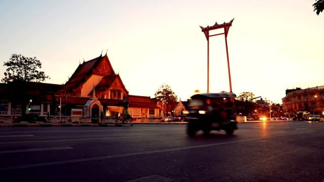 Bangkok traffic in front of Giant Swing