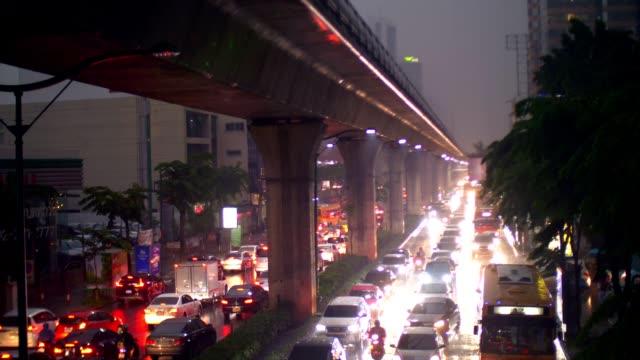 Bangkok Traffic In The Rain