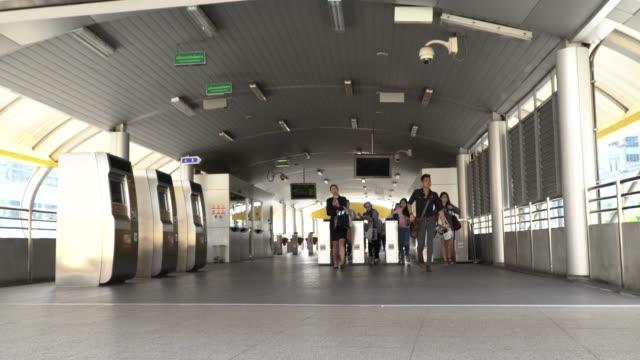bangkok transportation - cross section stock videos & royalty-free footage