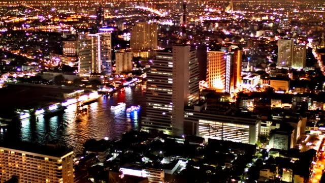 blick auf bangkok - chao phraya delta stock-videos und b-roll-filmmaterial