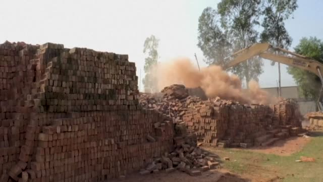 bangladesh authorities bulldoze illegal soot belching brick kilns after dhaka's air quality soared to among the world's worst last week with the... - soot stock videos & royalty-free footage
