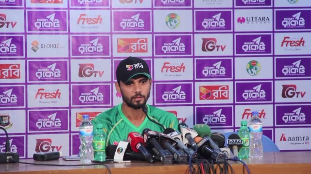 bangladesh captain mashrafe mortaza refuses to apologise to england for his team's celebrations after jos buttler's dismissal during sunday's second... - international match stock videos & royalty-free footage