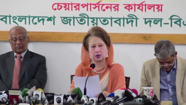 a bangladesh court sentences former prime minister and opposition leader khaleda zia to another seven years in prison on corruption charges - zia stock videos & royalty-free footage