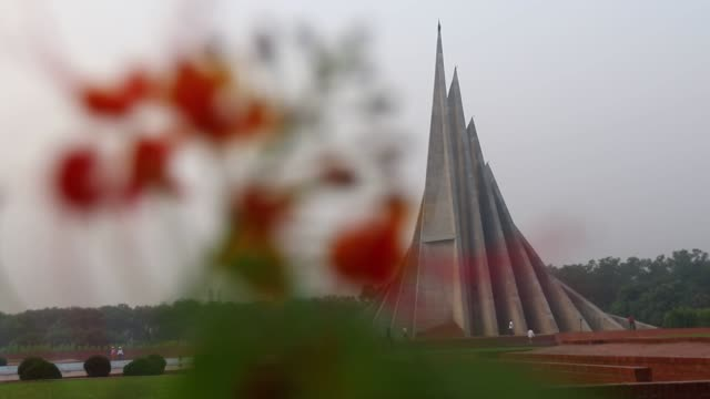 People gather at the National Monument in the suburban Savar district of Dhaka Bangladesh on March 26 to pay homage on its national day to the...