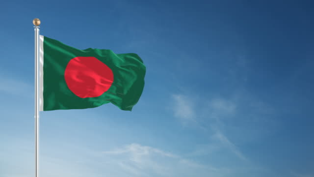 4k bangladesh flag - loopable - flag of bangladesh stock videos & royalty-free footage