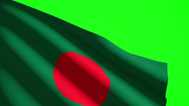 bangladesh flag luma matte - flag of bangladesh stock videos & royalty-free footage