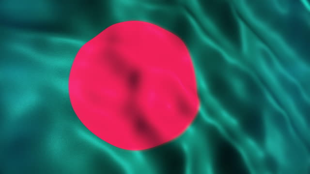 bangladesh flag - flag of bangladesh stock videos & royalty-free footage