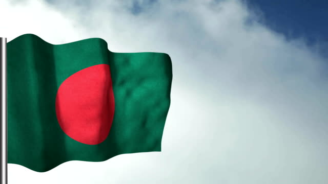 bangladesh - looping, waving - flag of bangladesh stock videos & royalty-free footage