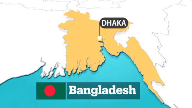 bangladesh map with flag - flag of bangladesh stock videos & royalty-free footage