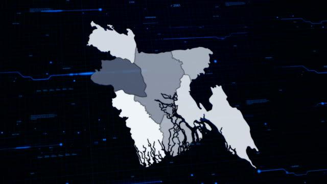 Bangladesh network map