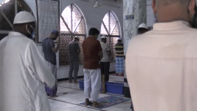 bangladesh opens hundreds of thousands mosques for mass as the coronavirus crisis deepens in the country with 13 deaths reported in the last 24... - religion stock videos & royalty-free footage