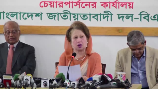 bangladesh opposition leader khaleda zia on wednesday proclaimed her innocence on the eve of a verdict that authorities fear could spark violence if... - zia stock videos & royalty-free footage